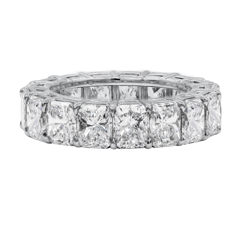 Roman Malakov 10.50 Carat Radiant Cut Diamond Eternity Wedding Band
