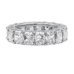 Roman Malakov 10.50 Carat Radiant Cut Diamond Eternity Wedding Band