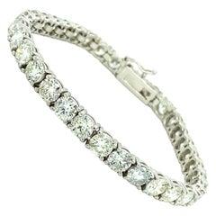 10.50 Ct Diamonds Tennis Bracelet 18kt White Gold