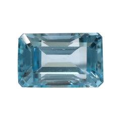 10.55 Carat Aquamarine Emerald-Cut Unset Loose 3-Stone Ring Gemstone