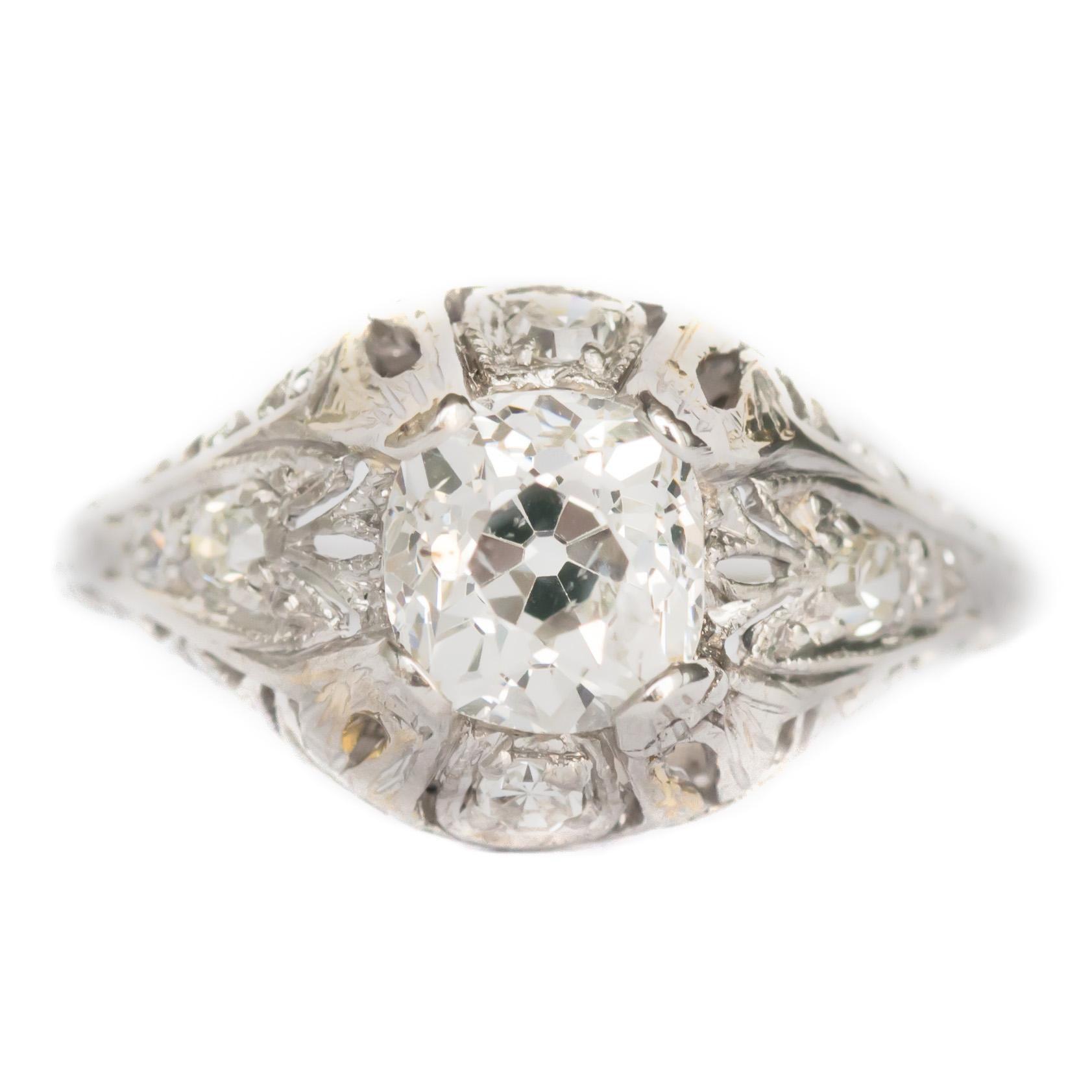 1.06 Carat Diamond Platinum Engagement Ring