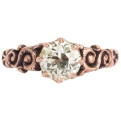 1.06 Carat Diamond Rose Gold Engagement Ring