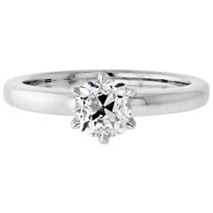 1.06 Carat Old Mine Cut Diamond F/SI1 GIA Solitaire Engagement Ring