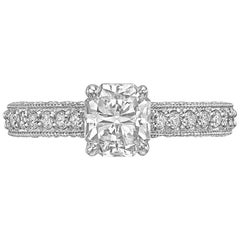 1.06 Carat Radiant-Cut Diamond Engagement Ring