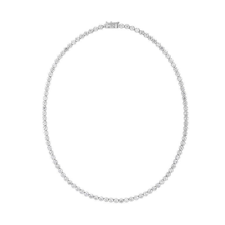 10.60 Carat Diamond Gold Tennis Necklace
