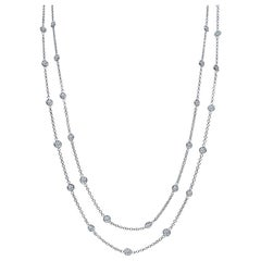 10.65 Carat Diamond by the Yard Necklace