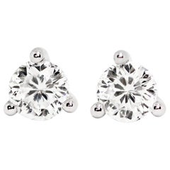 1.06ct F VS1 Roberto Coin Cento Collection Diamond 18 Carat Gold Stud Earrings