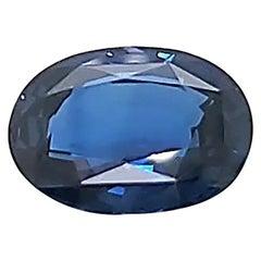 10.79 Carat GRS Certified Intense Blue Sapphire UnHeated Natural Gem