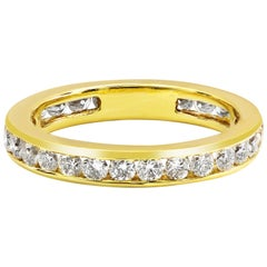 1.08 Carat Round Diamond Channel Set Eternity Wedding Band