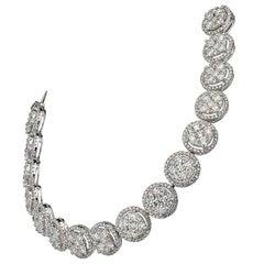 10.85 carat Illusion Diamond Gold Bracelet