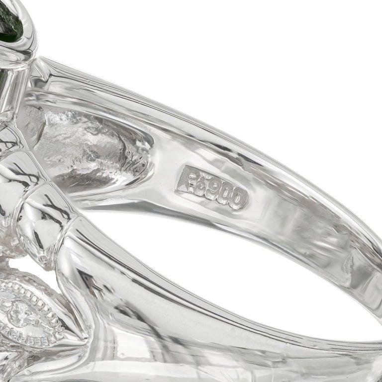 Women's 10.85 Carat Tourmaline Diamond Platinum Cocktail Ring For Sale