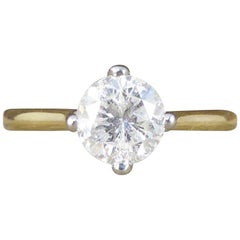 1.08 Carat Diamond Solitaire Engagement Ring in 18 Carat Yellow Gold