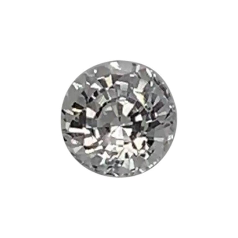 1.09 Carat Round White Natural Sapphire GIA Certified Unheated