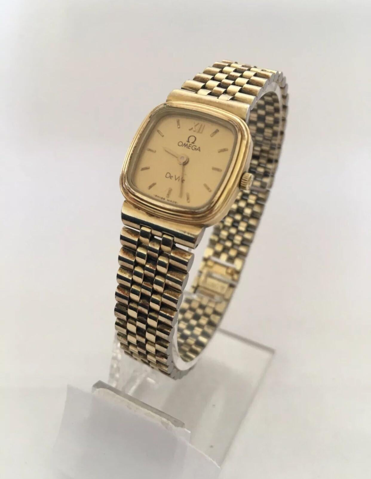omega women's rolled gold watches