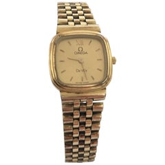 10 Karat Rolled Gold Plated Ladies Vintage Omega De Ville