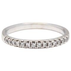 10 Karat White Gold, Diamond Stackable Band Ring
