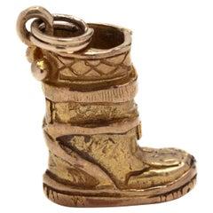 10K Yellow Gold Snow Boot Charm
