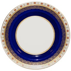 11 19th Century Minton Cobalt and Rust Service Plates