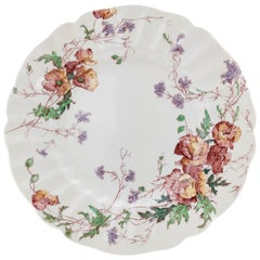 11 Antique English Floral Dinner Plates, Royal Doulton