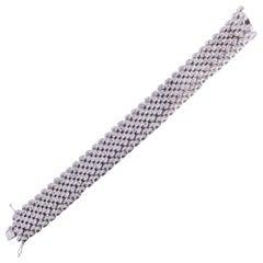 11 Carat Diamond Bracelet, Made in Italy, 18 Karat Gold