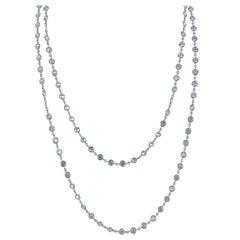 11 Carat Diamond by The Yard Platinum Chain Necklace