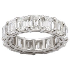 11 Carat Emerald Cut Eternity Band
