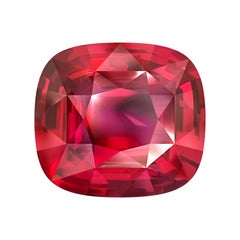 27 Carat Natural Vibrant Red Pink Spinel Mahenge Cushion GRS Certificate