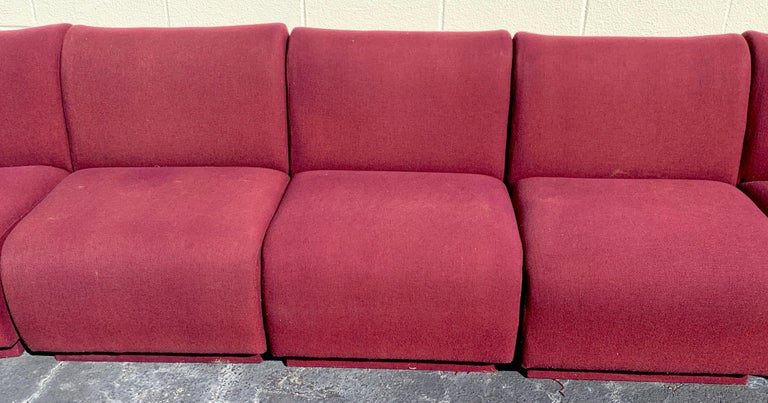 Upholstery 11-Piece Modular Living Room Attributed to Milo Baughman for Thayer Coggin For Sale