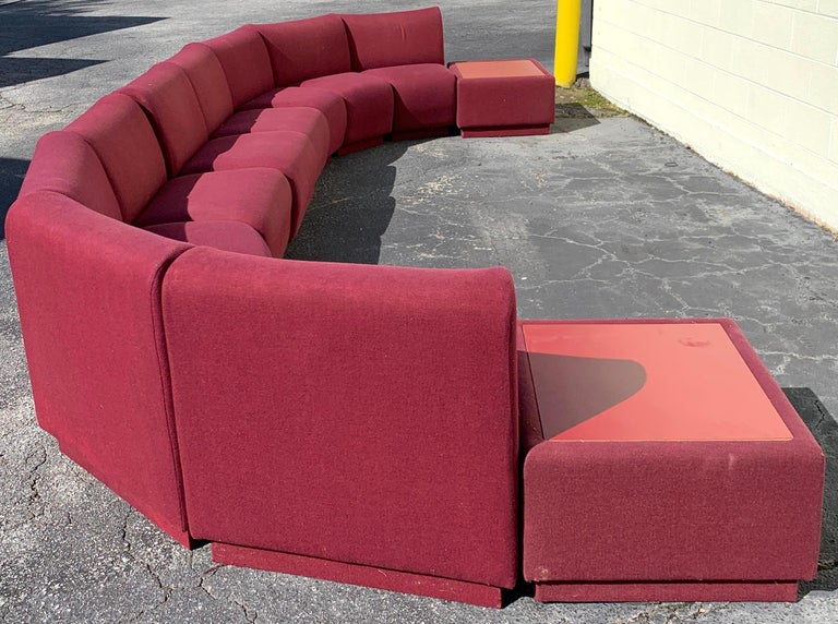 11-Piece Modular Living Room Attributed to Milo Baughman for Thayer Coggin For Sale 2