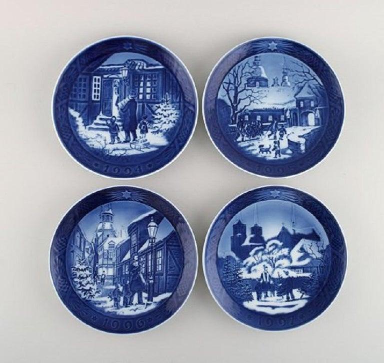 Danish 11 Royal Copenhagen Christmas Plates from 1990-2000 For Sale