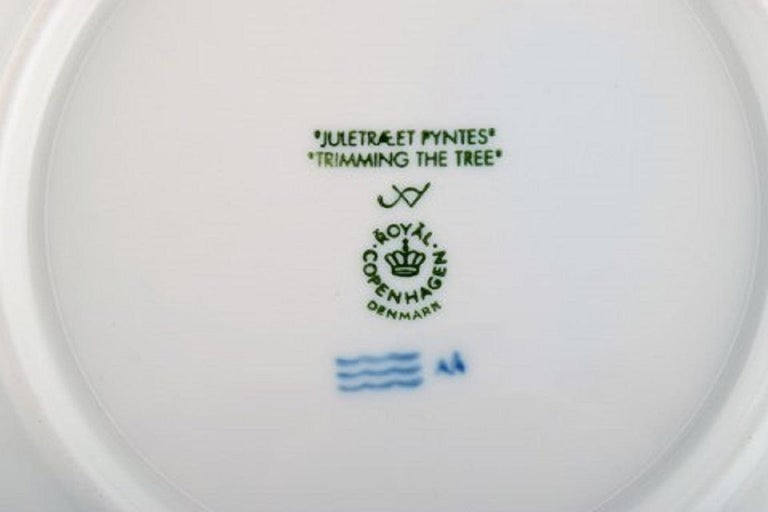 Late 20th Century 11 Royal Copenhagen Christmas Plates from 1990-2000 For Sale