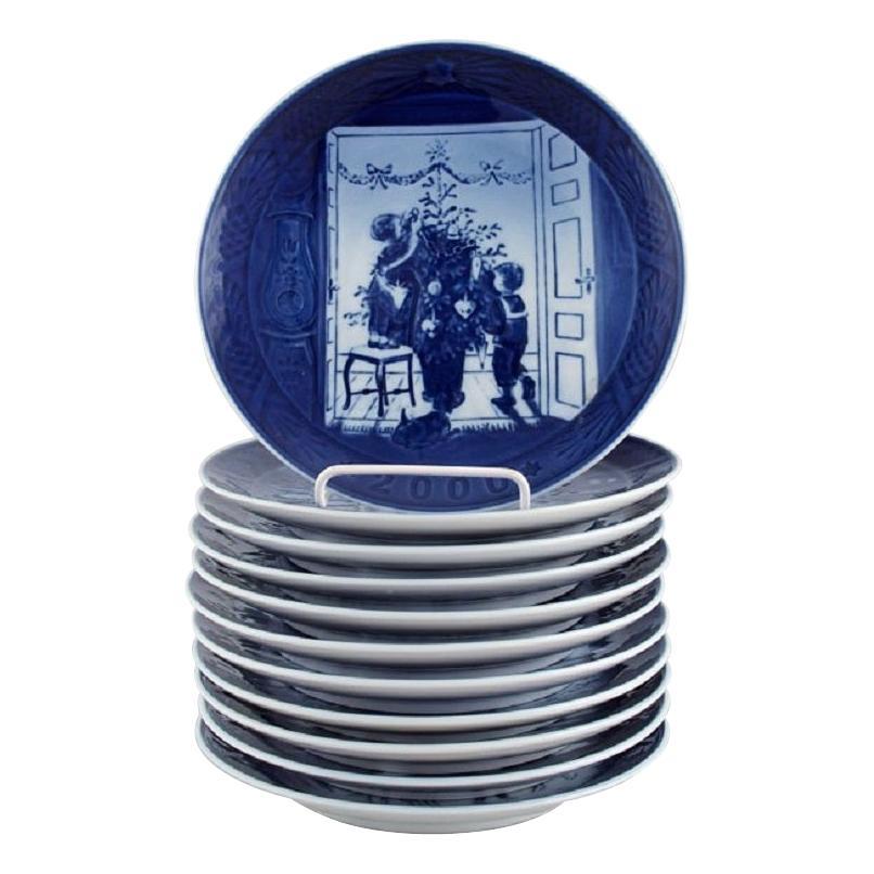 11 Royal Copenhagen Christmas Plates from 1990-2000