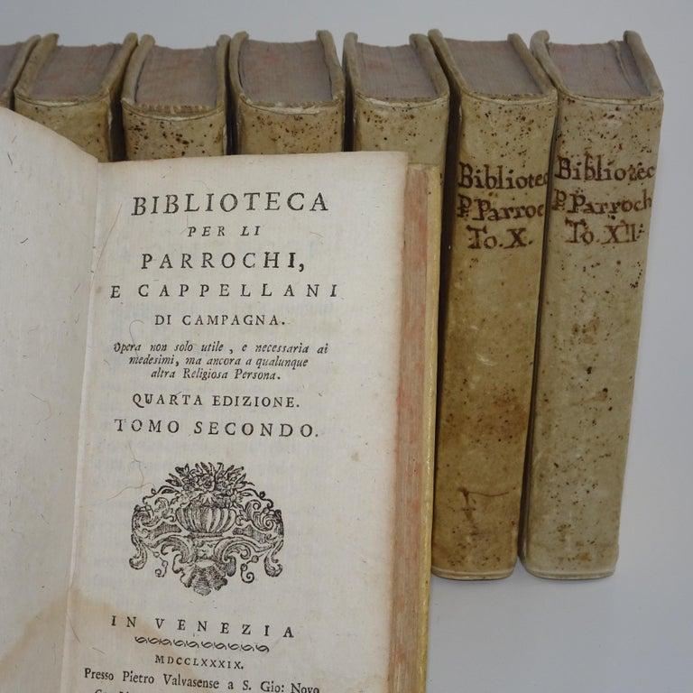 Italian 11 Volumes of 18th Century Vellum Books For Sale