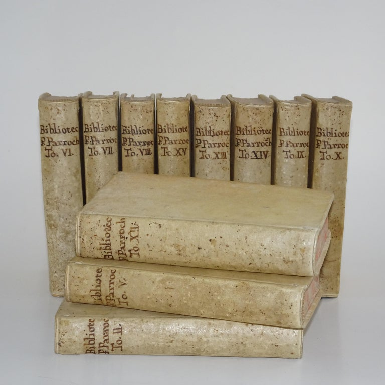 11 Volumes of 18th Century Vellum Books In Good Condition For Sale In Nashville, TN