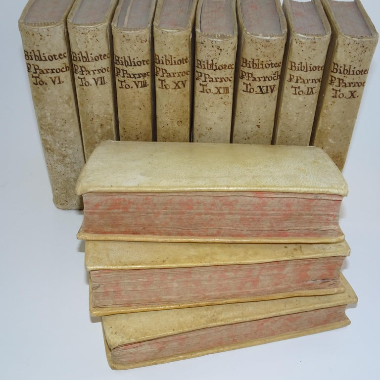 Animal Skin 11 Volumes of 18th Century Vellum Books For Sale