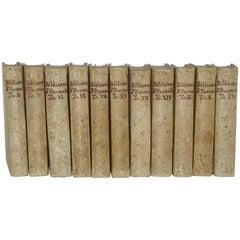 11 Volumes of 18th Century Vellum Books