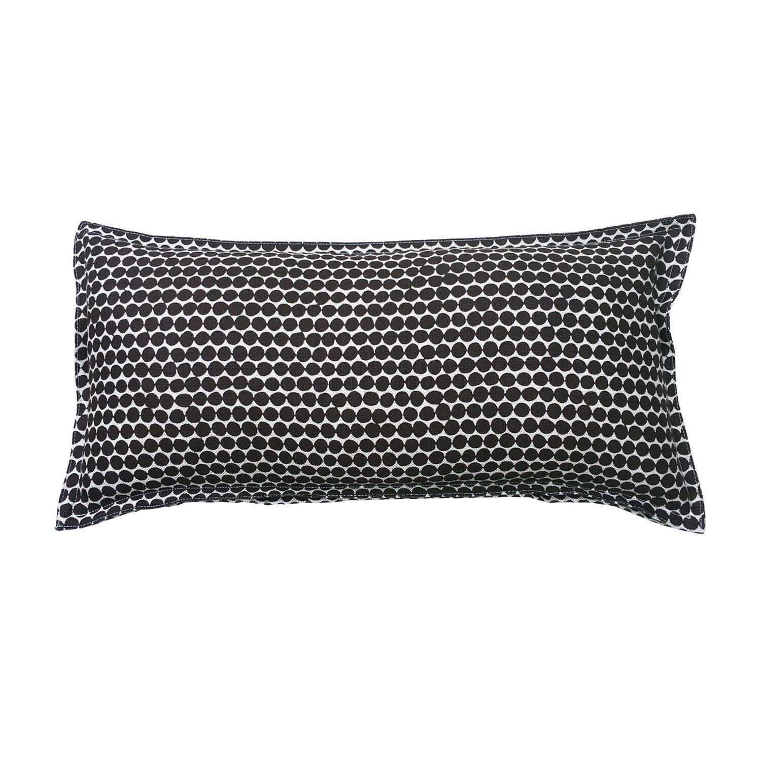 Espresso Beads on Wheat Cotton Linen Pillow