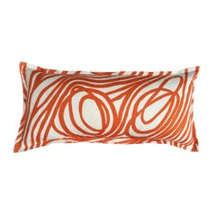 Nectarine Ropes on Lightweight Linen Pillow