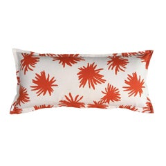 Orange Mum on Cotton Canvas Pillow