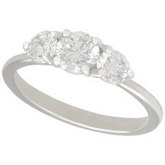 1.10 Carat Diamond and Platinum Trilogy Ring
