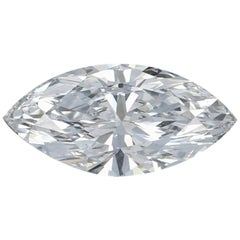 1.10 Carat Loose Diamond, Marquise Cut GIA Graded Solitaire SI1 D