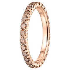 1.10 Carat Micro-Pave Diamond Eternity Wedding Band in 14 Karat Rose Gold
