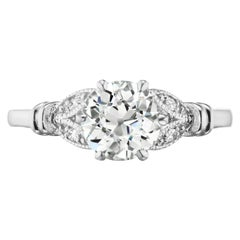 1.10 Carat Old European Cut JVS2 Diamond GIA Certified in Platinum