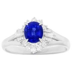 1.10 Carat Sapphire and Diamond Ring