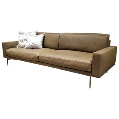 110 Modern Leather Sofa by Vibieffe