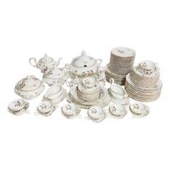 110 Piece Midcentury Rosenthal Pompadour Porcelain Dinner Service Set
