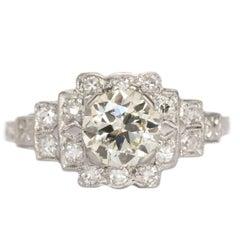 1.11 Carat Diamond Platinum Engagement Ring