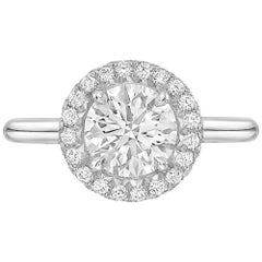 "1.11 Carat Round Brilliant Diamond ""Oriana"" Ring 'G/SI1'"