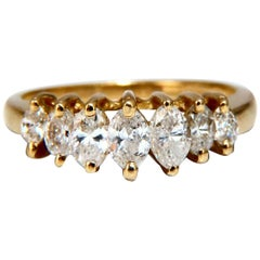 1.11 Carat Diamonds Raised Cathedral Band Marquise Cuts 14 Karat