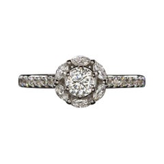 1.12 Carat Celebrity Cut Diamond Marquise Halo Radiant Engagement Ring